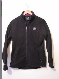 KArrimor fleece ladies front full zip black excellent condition size 12