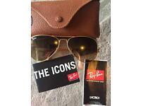 RAYBAN aviator women's sunglasses NEW