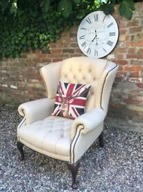 Cream ivory Chesterfield armchair. Sofa also available.