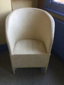 Lloyd loom chair, white, original