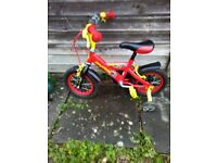 Boys 12inch Dinosaur Bike with Dinosaur Helmet