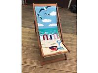 "Full size adults deckchair ""seaside"" theme"