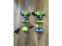 Ryobi 18v drill kit with 4ah battery and charger
