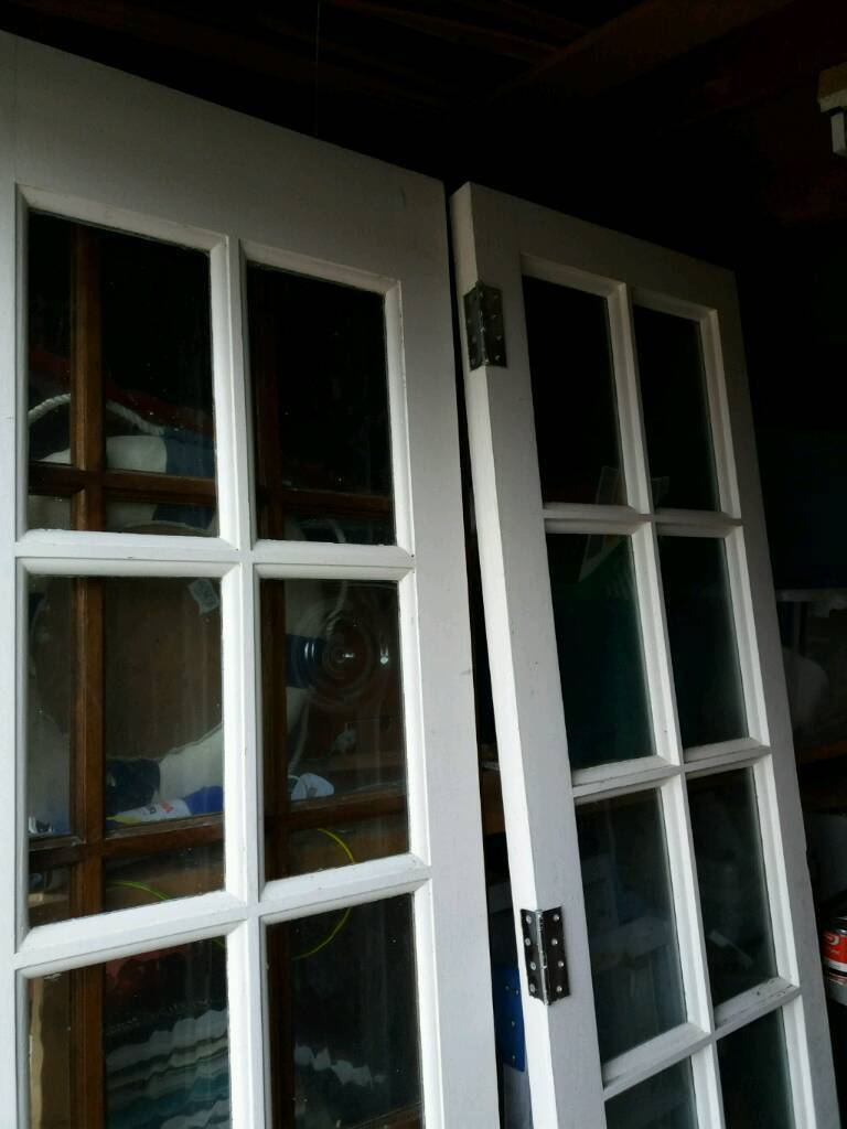 Painted White Interior French Doors In Barton On Sea