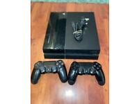PS4 (500GB) including 2 controllers