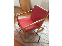Contemporary Oak Rocking Wood Chair from the Futon Company, Armchair, Excelent Condition