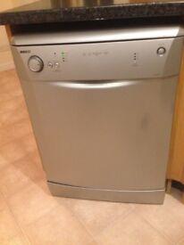 BEKO full size Diswasher. Silver colour