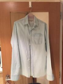 River Island light blue denim shirt size XS