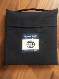 Single travel liner, sleeping bag liner