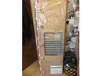Brand new 1450 x 450 Matt silver heated towel radiator bargain