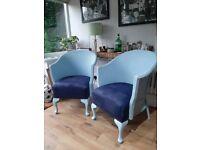 Vintage, Lloyd Loom type chairs - pair