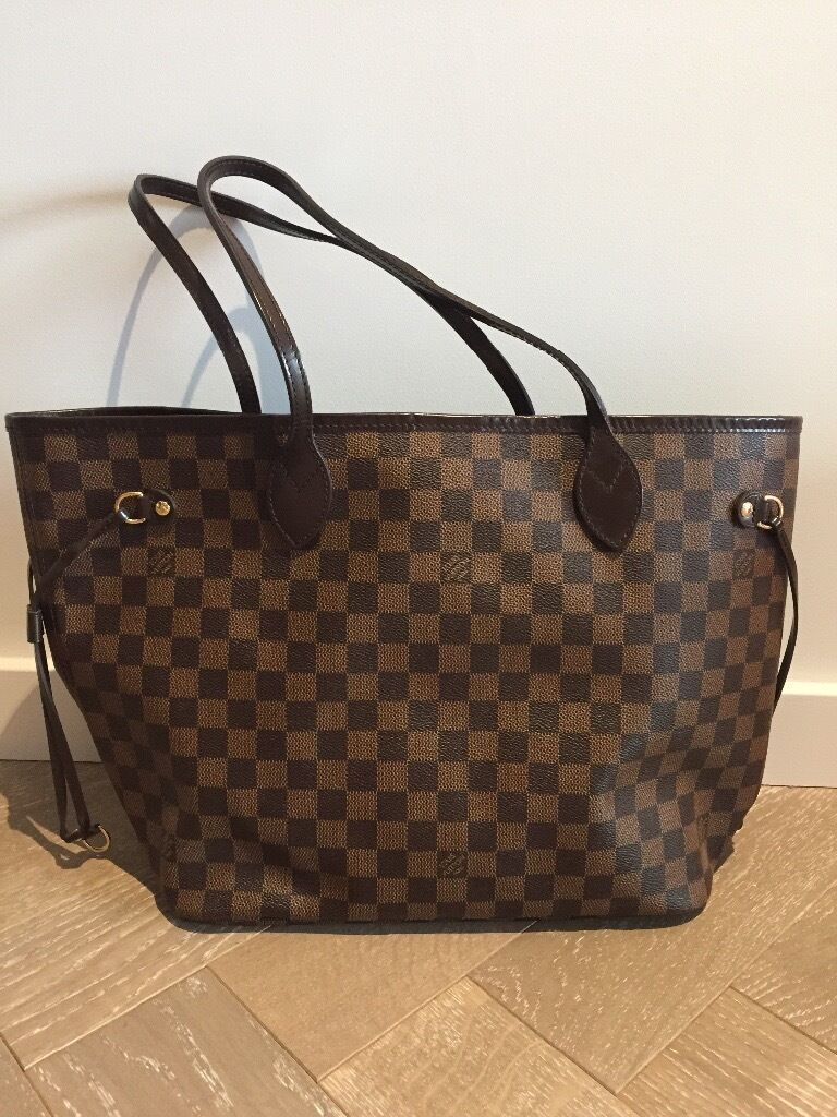 Authentic Louis Vuitton Neverfull Mm Women Bag In Great Condition