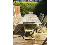 8-Seater Garden Table and Chairs