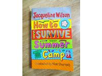 Signed Jacqueline Wilson's 'How to Survive Summer Camp'