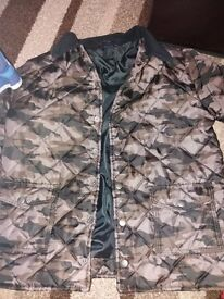 Boys quilted army coat