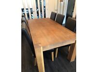 *REDUCED* Solid Oak (Barker & Stonehouse) dining table and 6 chairs