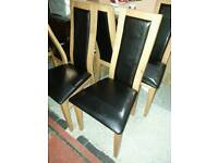 A slight used very good quality set of 4 dining chairs.