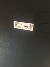 """Ikea """"Tarendo"""" black dining table & four chairs"""