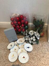 Christmas decorations selection