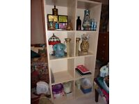 IKEA Unit bookcase shelves light beach storage immaculate