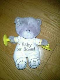 Me to You Bear Baby on board car sign