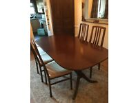 Dark brown dining table