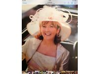 Natural colour large special occasion hat - Mother of the bride