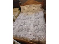 Double bed with mattress and duvet (for collection)