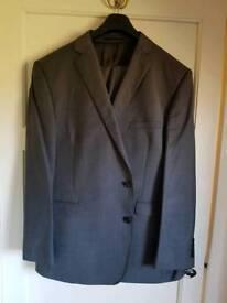 Mens 2 piece grey suit