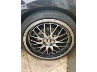 "Bbs 19"" wheels 5x112 235 35 19 golf audi skoda bmw"