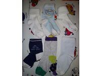 6 pairs of baby socks c. 9-10 cm heel to toe