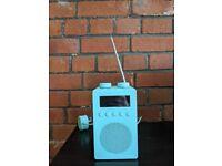 John Lewis mint green DAB radio