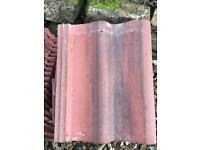 Low pitch roof tile Sandtoft Double Roman Pantile tile Heather/Black
