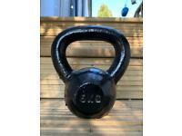 8kg Cast Iron Jordan Fitness Kettlebell, gym grade weights