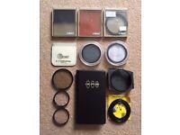 A selection of Cokin, Kenkin, Hoya, Tamron, Filtek and other filters