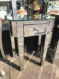 Mirrored Side Table / Bedside Table