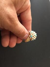 AMERICAN 14k SOLID GOLD RING . 6.7 Grammes - hand made bespoke