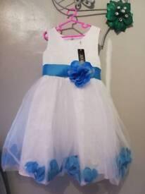 Girls flower girl/bridesmaid dress age 6