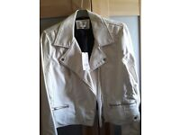 White leather look jacket