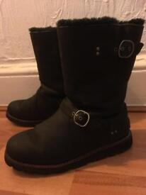 Biker style UGG boots size 6