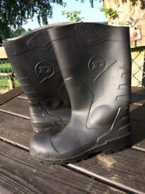 Dunlop Safety Rubber Boots Size 9 New