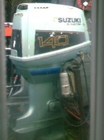 SUZUKI 140 HP LONG SHAFT OIL INJECTION +REMOTES