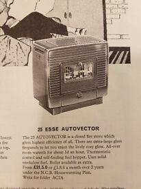 Vintage 1960's 25 Esse Autovector stove