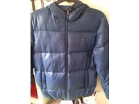 Small Padded/Quilted Mens Tommy Hilfiger Jacket in Blue with Hood