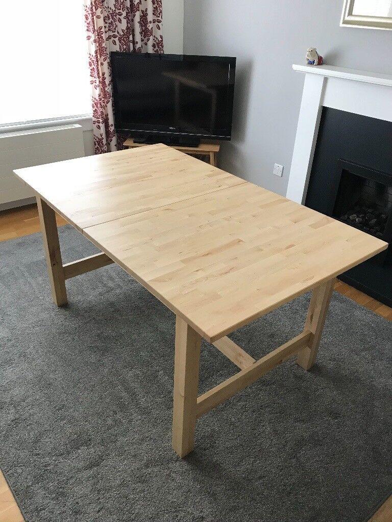 Ikea Norden Birch Wood Extending Dining Table In East Calder West Lothian Gumtree