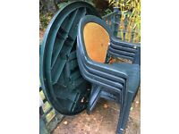 Green garden furniture set