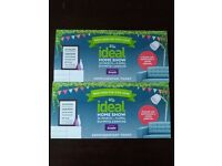 £10 - 2 Ideal Home Show complementary tickets