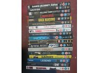 18 films on dvd, many from 2016/2015, inc deadpool,spectre, the dark night rises and many more