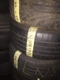225/50/17 Runflat tyres large selection.
