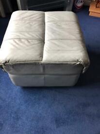 Light blue leather seat